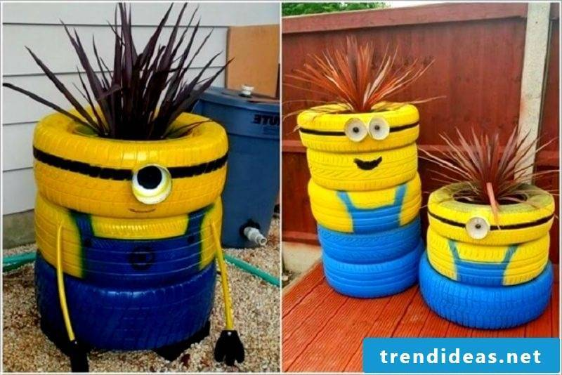 Flower pots from car tires!