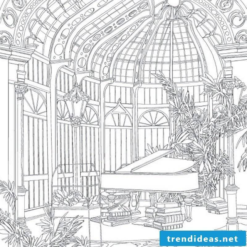 Mandala free coloring pictures for those who love piano
