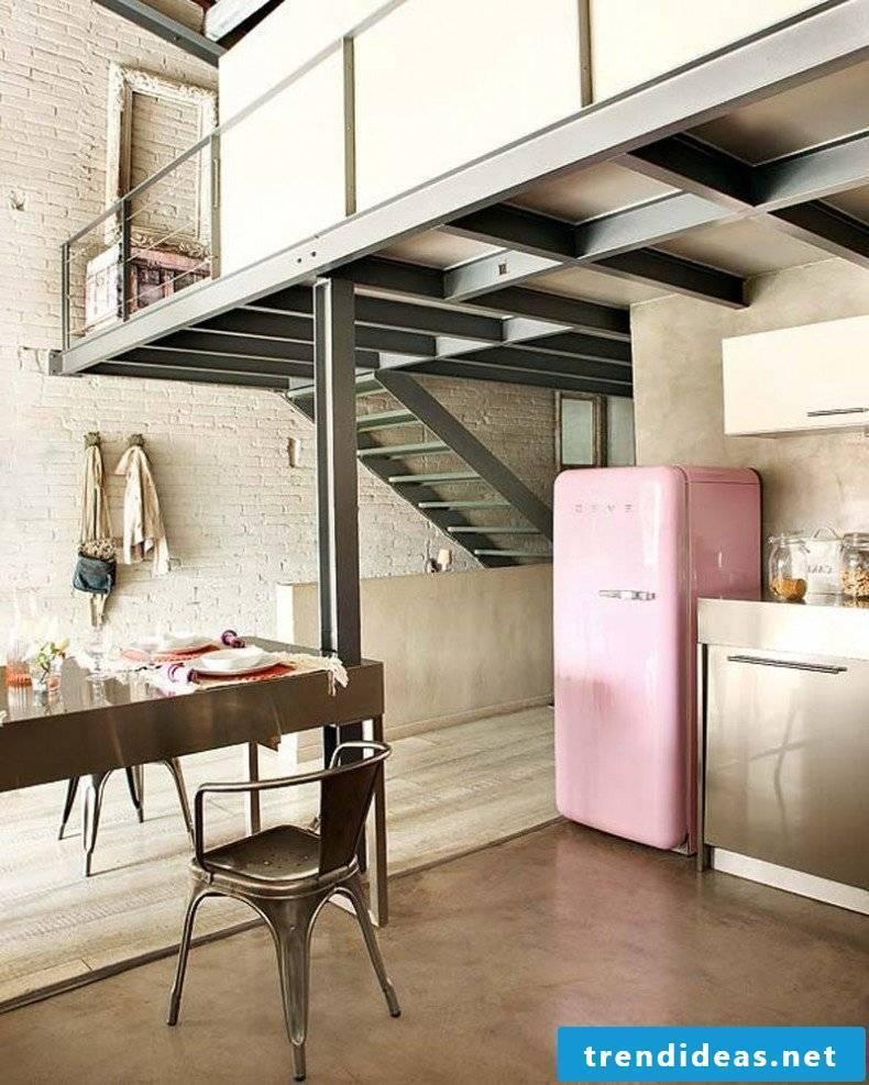 retro refrigerator bosch pink