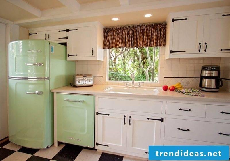 retro refrigerator bosch green