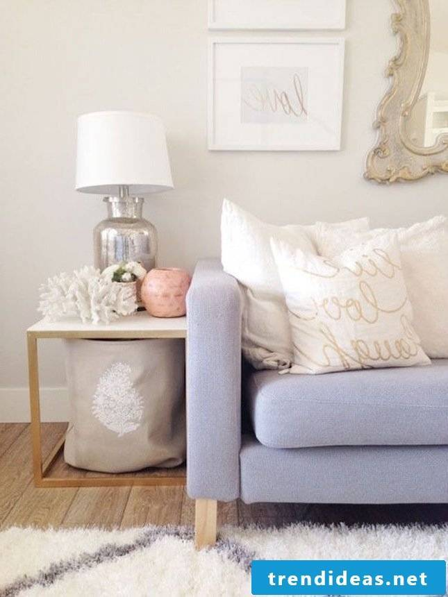 Room set up in pastel colors