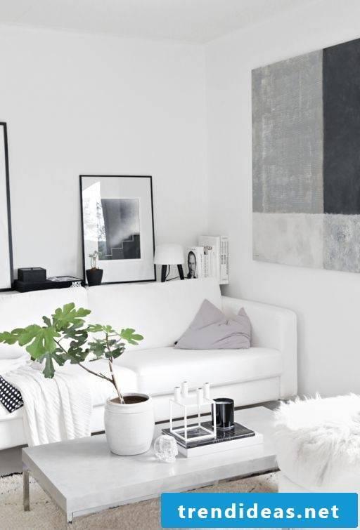 Furnish the living room Scandinavian