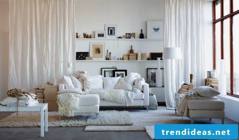 Room set up in white