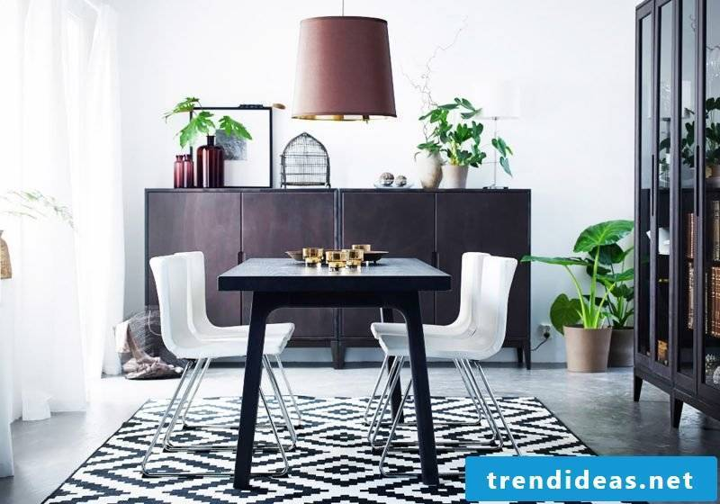 Room furnished in Scandinavian style