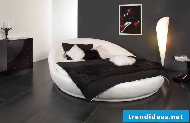 round bed comfortable model in white