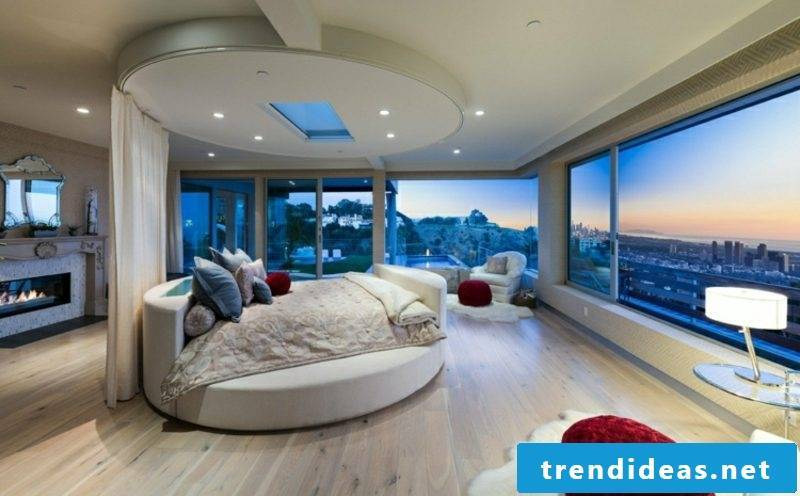 round bed bedroom modern splendid view