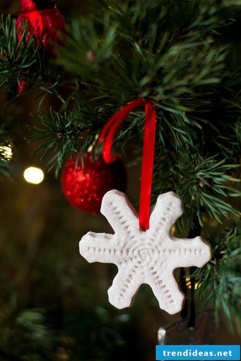 Salt dough Christmas pendant for Christmas tree