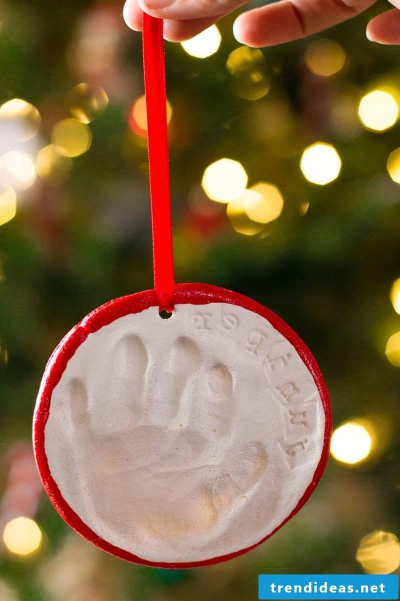 Salt dough Christmas decoration for Christmas tree