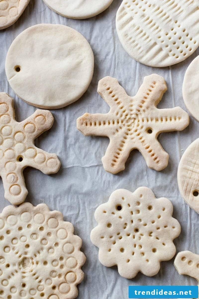 Salt dough Christmas decoration instructions