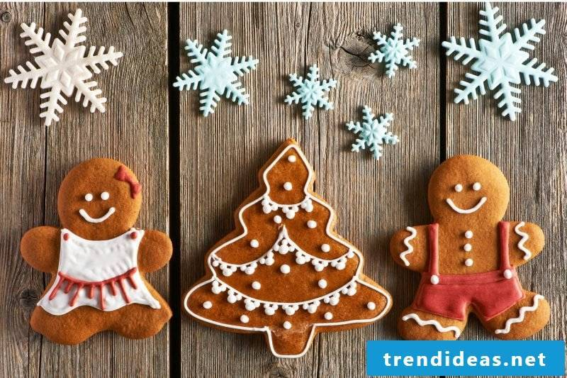 Salt dough Christmas table decoration