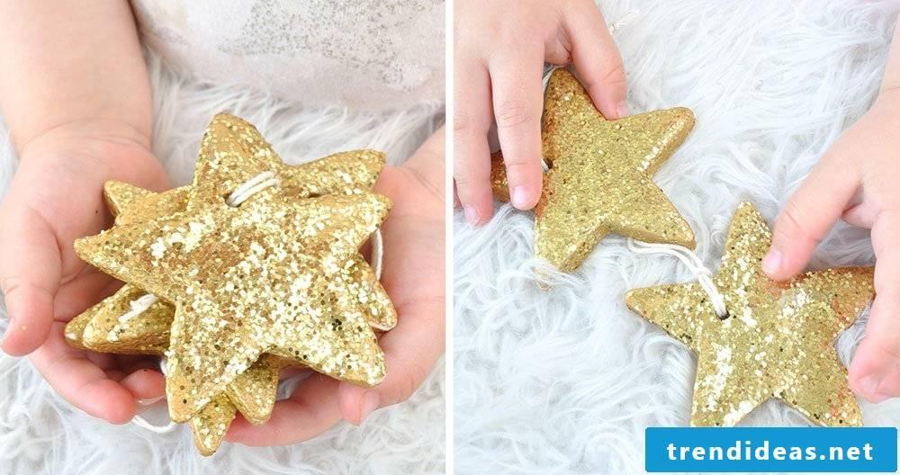 Salt dough Christmas decoration ideas and instructions