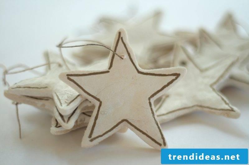 Salt dough Christmas stars tinker