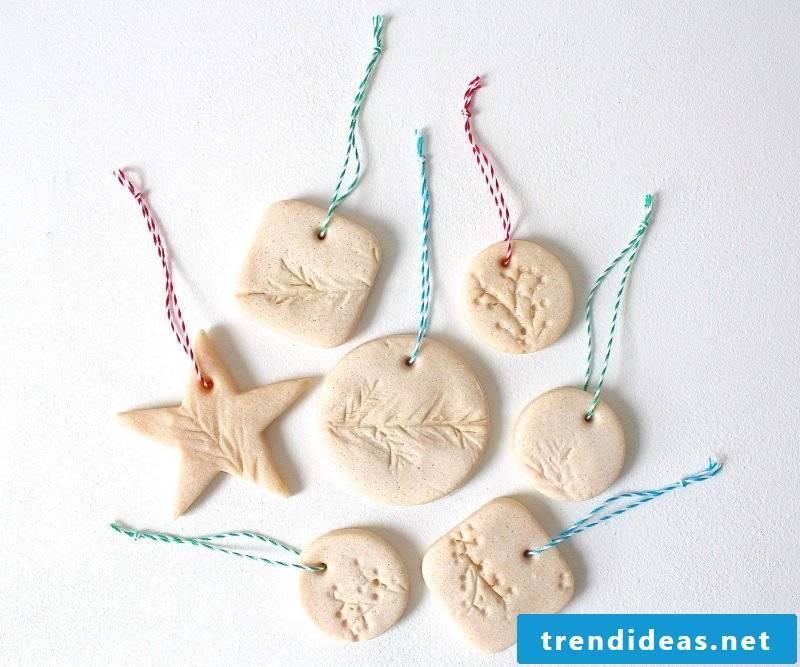 Salt dough Christmas Xmas tree jewelry making