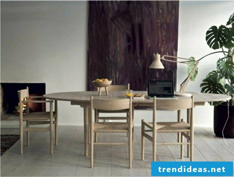 Scandinavian furniture dining puristic look