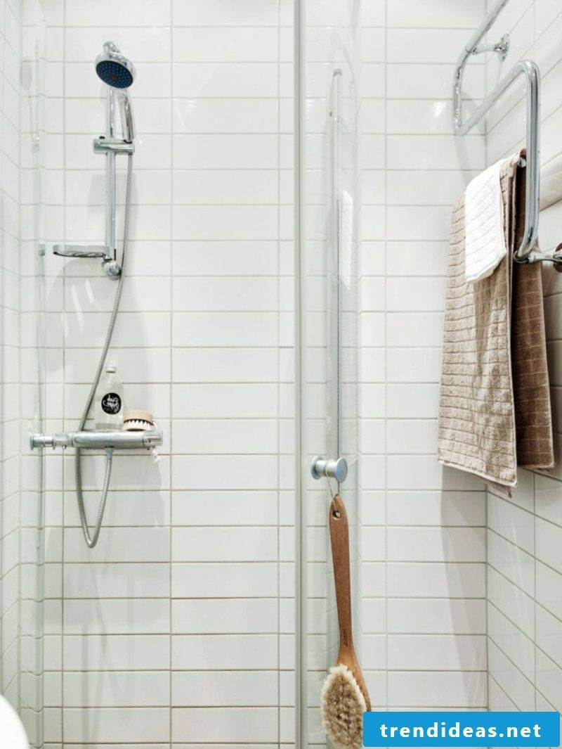 Scandinavian furniture shower cubicle white tiles