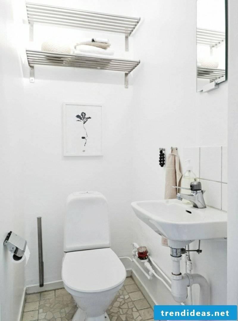 Scandinavian furniture toilet in white