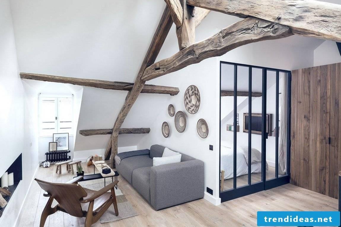 Natural wood brings more heat in the room