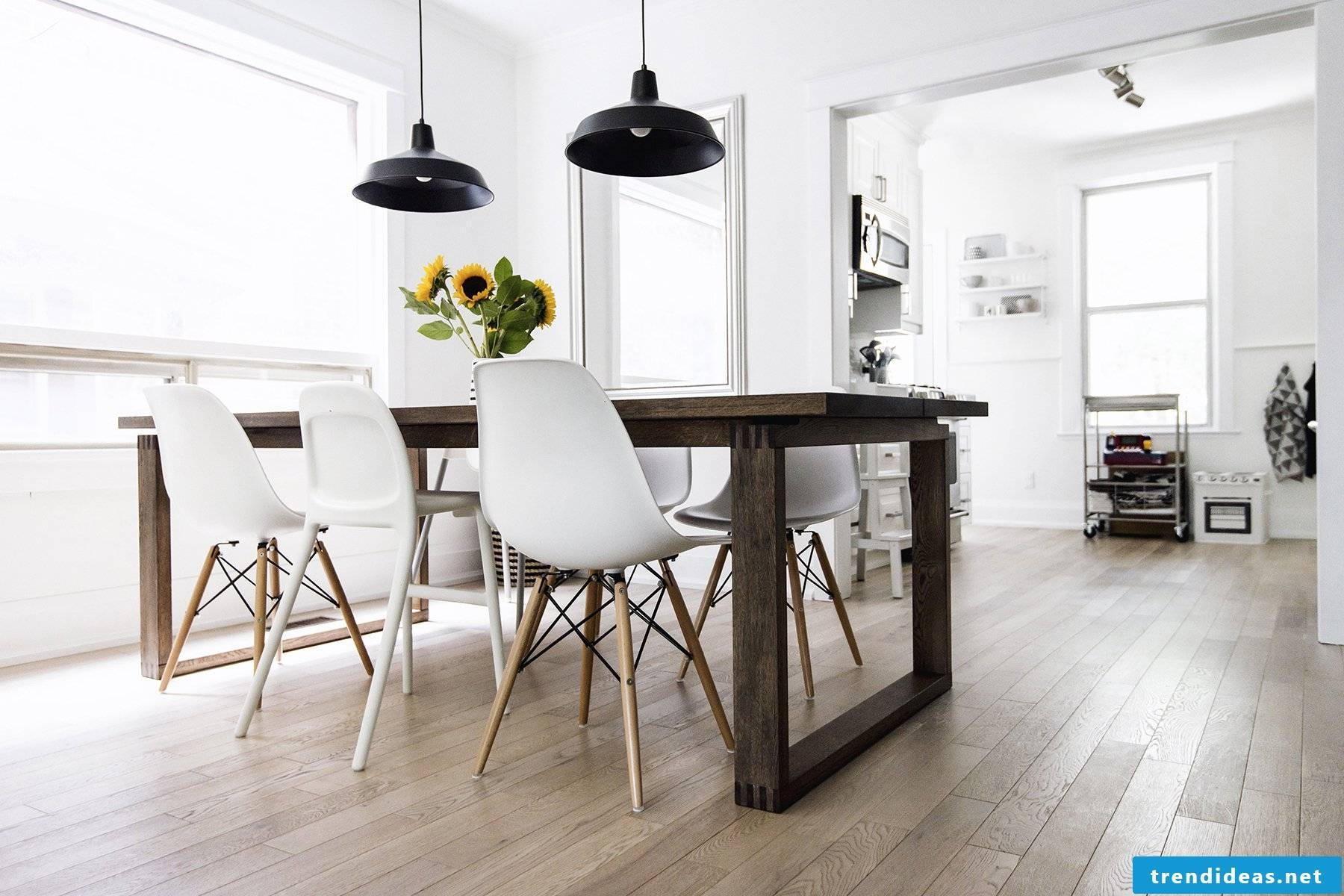 White and minimalist - typical Scandinavian lifestyle