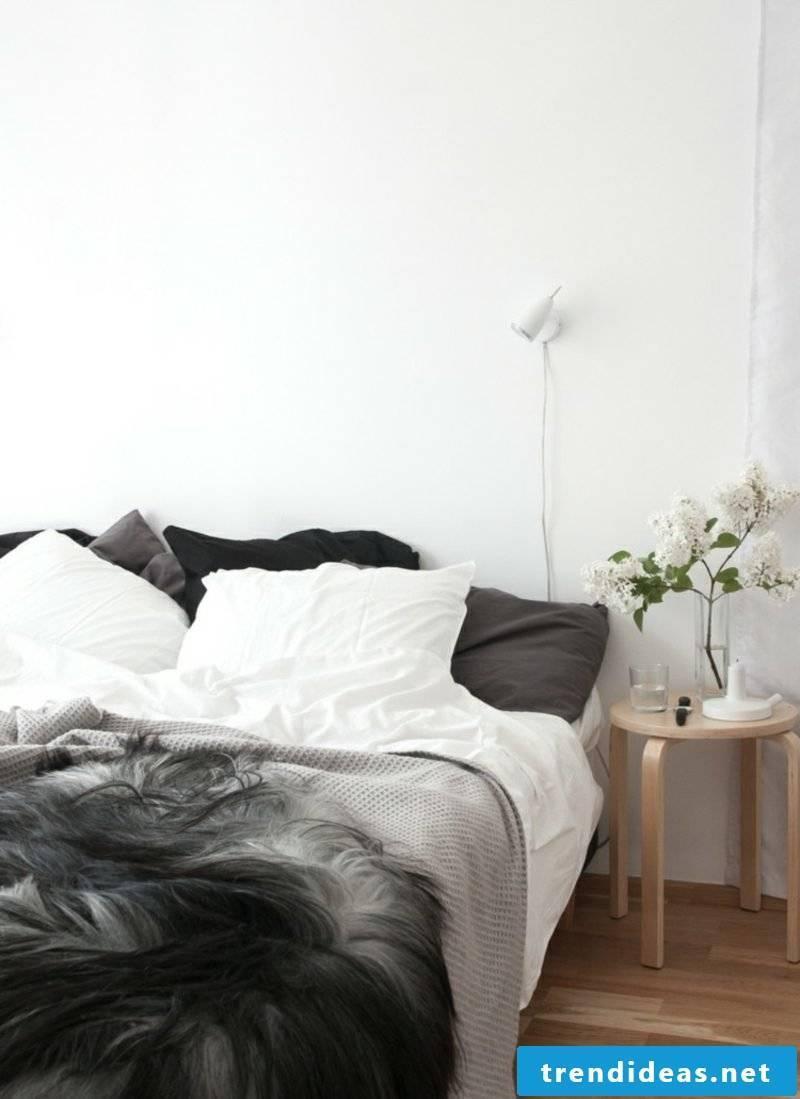 Scandinavian living gray bedroom