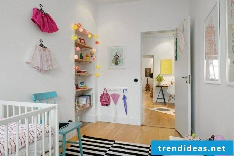 scandinavian living nursery room wall niche