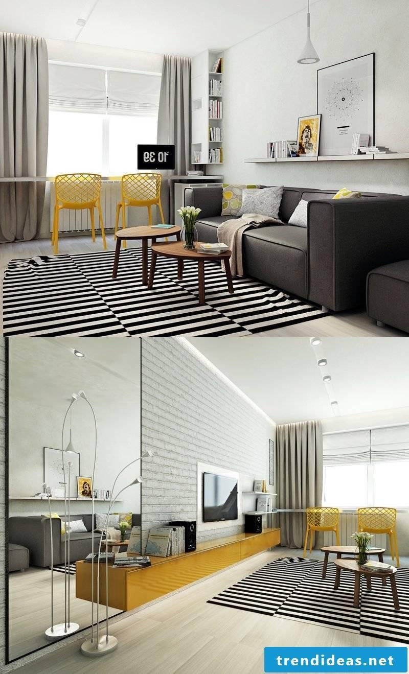 Scandinavian carpet: geometric figures and pastel colors