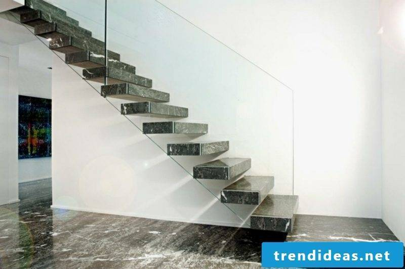 self-supporting granite staircase
