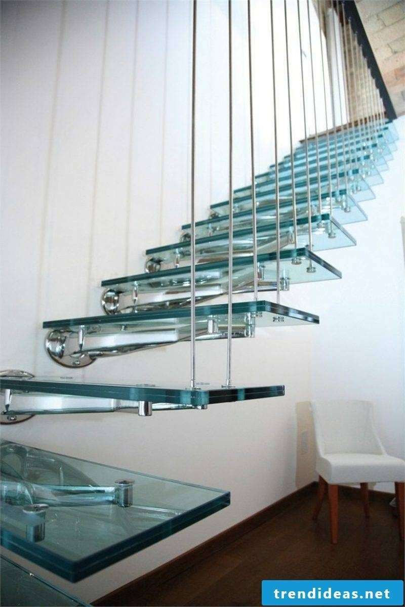 Bolts staircase glass steps