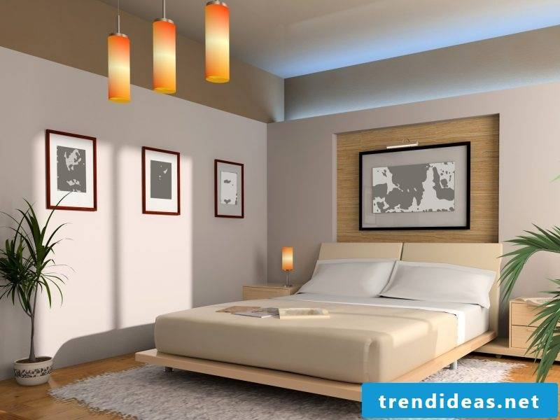 Bedroom in Feng Shui style