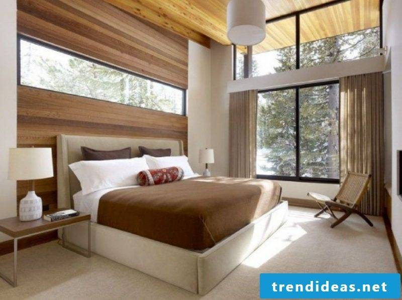 Bedroom with wood accents