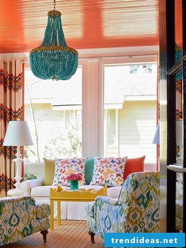 Sofa for furnishing in boho style