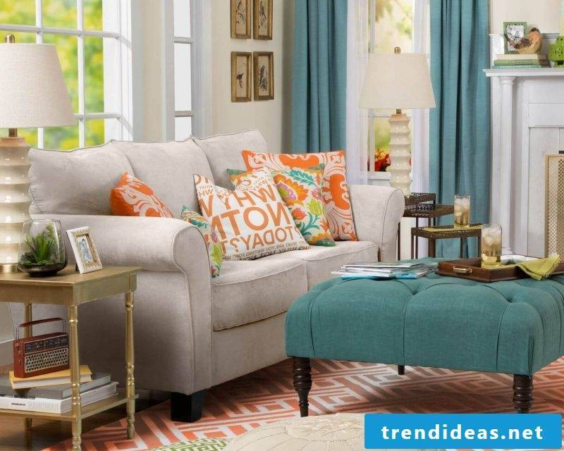 Decorating the sofa