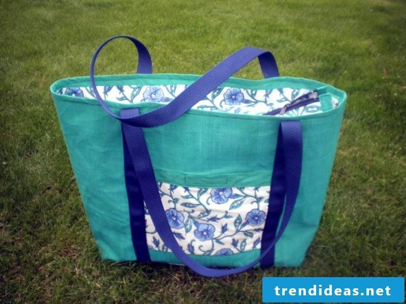 Beach bag sew creative DIY ideas gorgeous variation in light blue