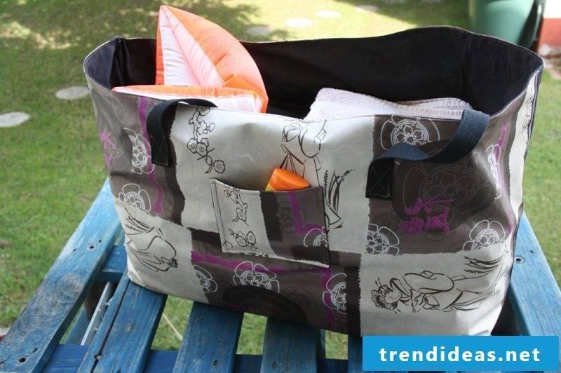 Beach bag sew big and modern