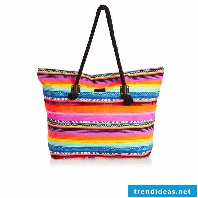 Beach bag sew original variant colored gorgeous look
