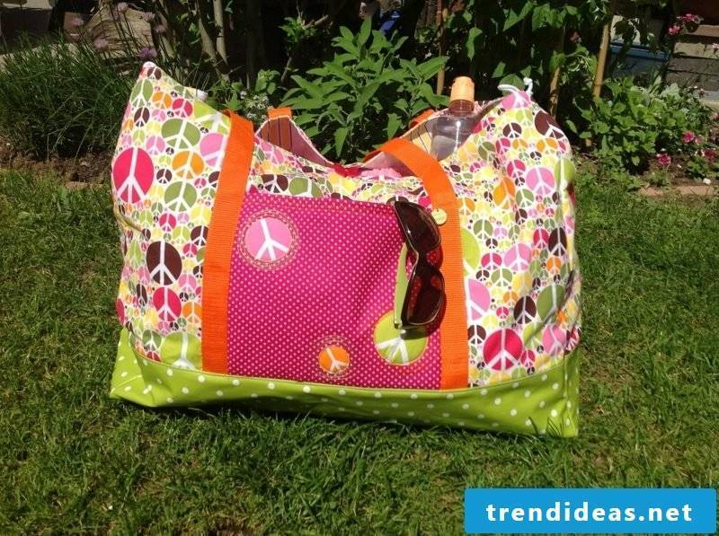 Beach bag sew colored fashion interesting design