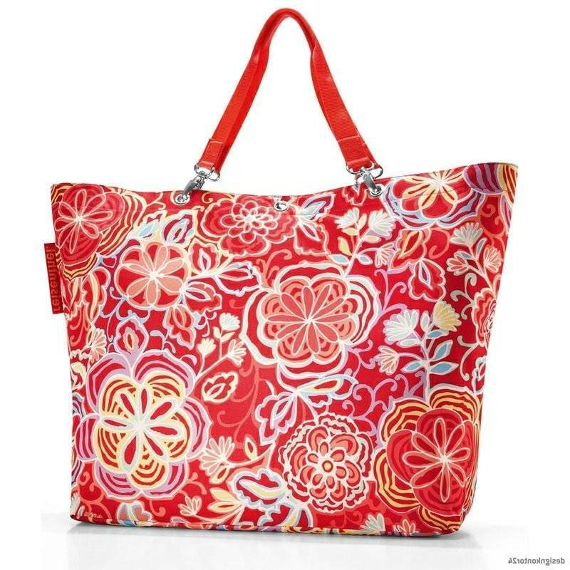 Beach bag sew original design floral motifs