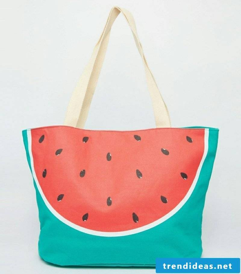 Beach bag sew interesting design watermelon