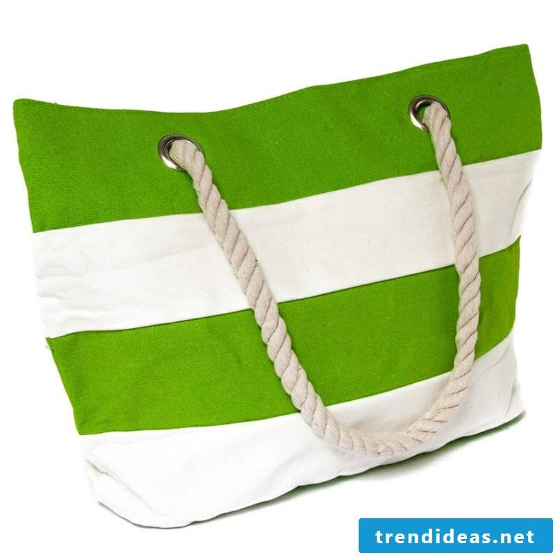 Beach bag sew interesting fashion fabric made of striped fabric itself