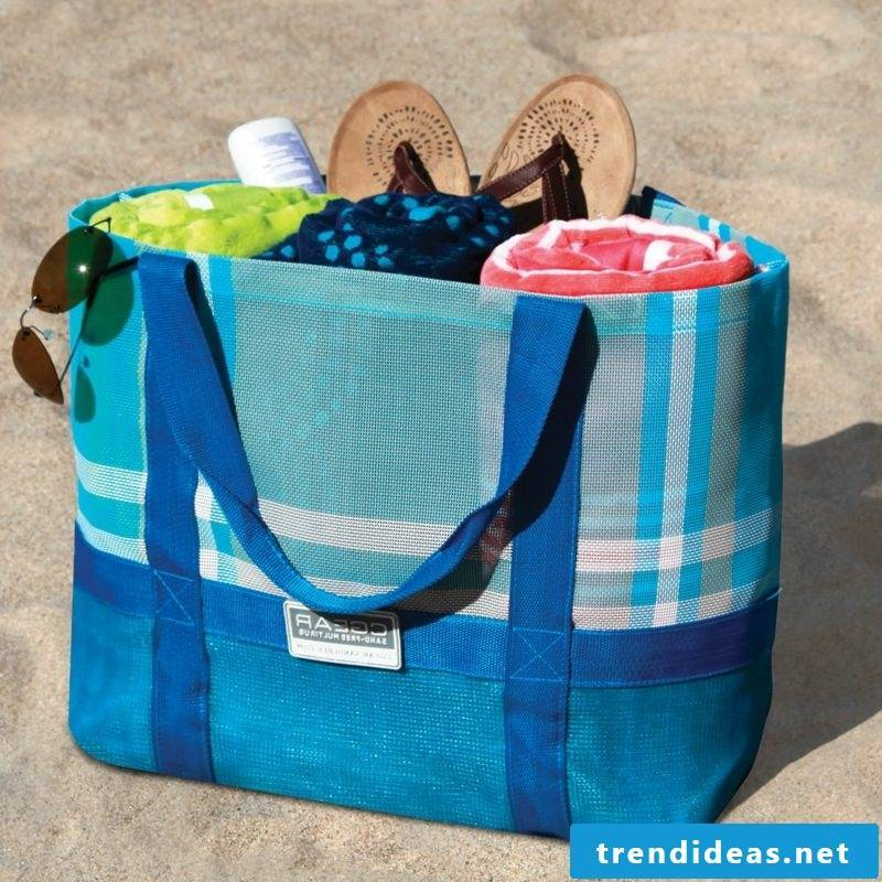 Beach bag sew big model in blue