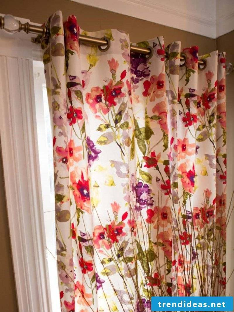 original curtain with flowers Sewing curtains