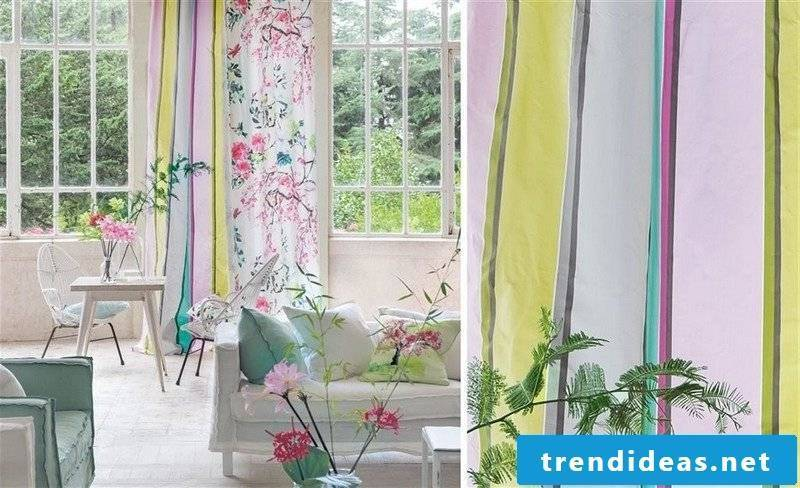 interesting colored curtains