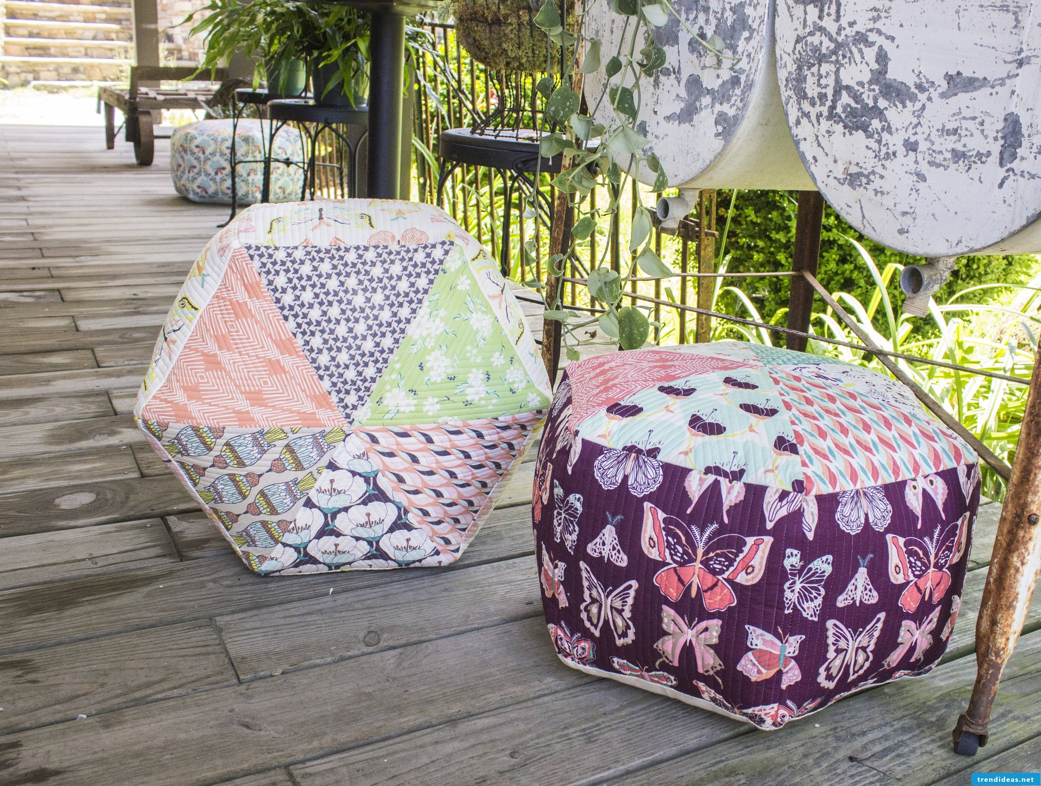 Seat cushion for sewn, suitable for balcony, garden and home