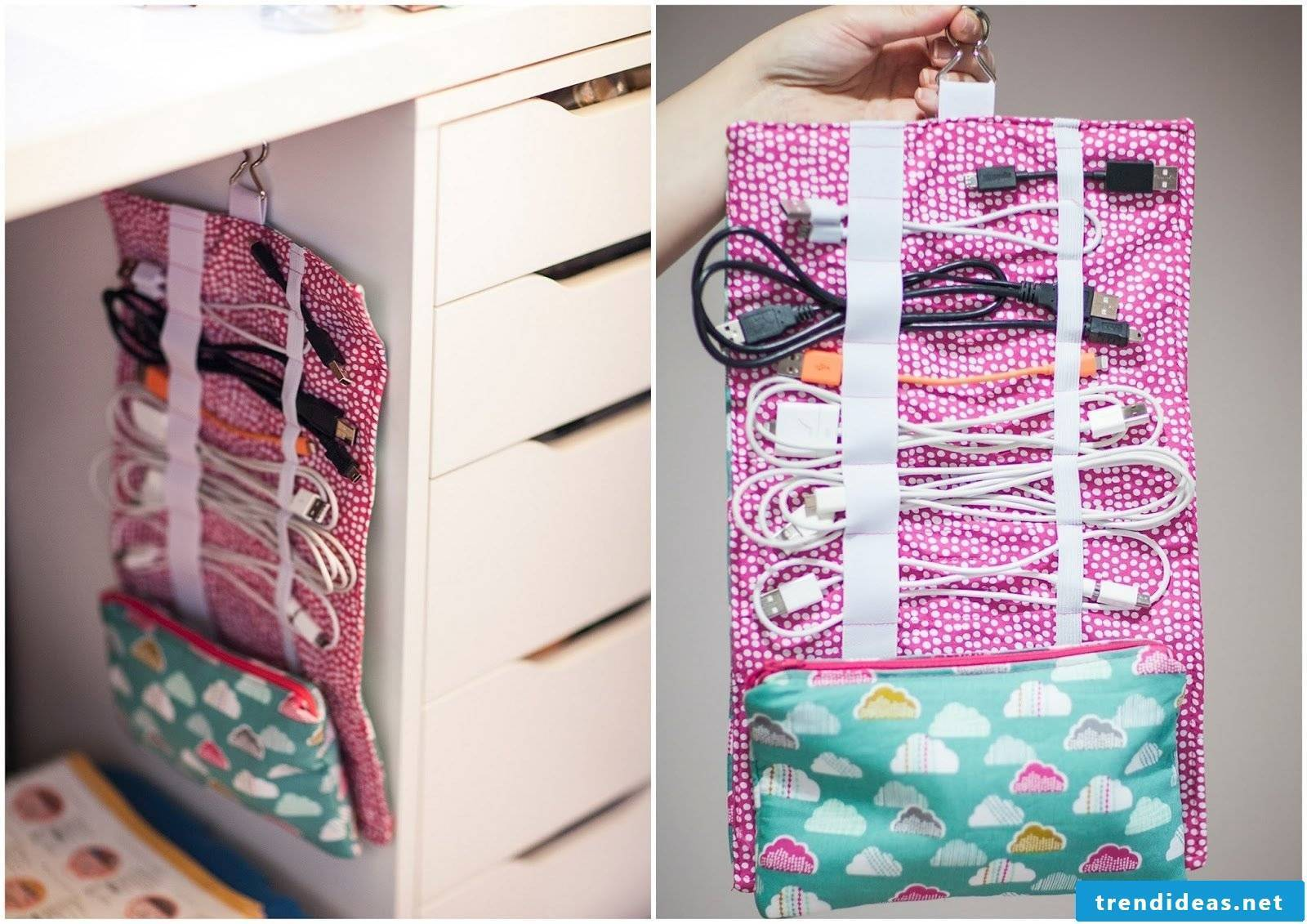 No clutter anymore, here's a creative sewing idea