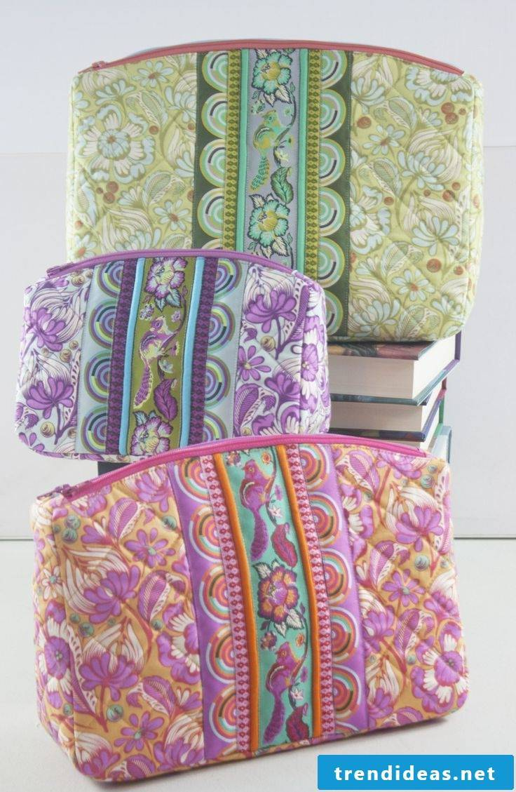 Make the toiletry bag yourself - Sewing ideas