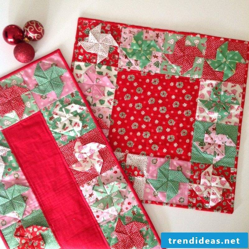 table runner-christmas-creates Warm-ambiente