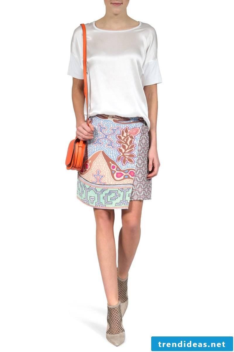 unusual wrap skirt