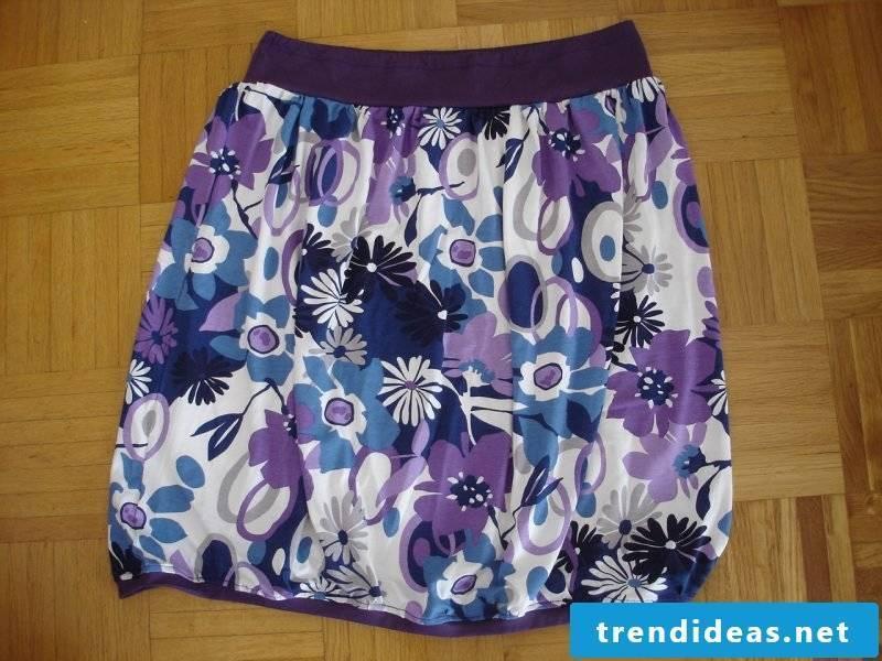 original wrap skirt with floral motifs