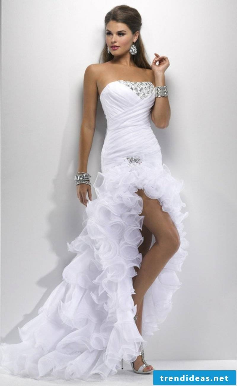 sexy wedding dress short