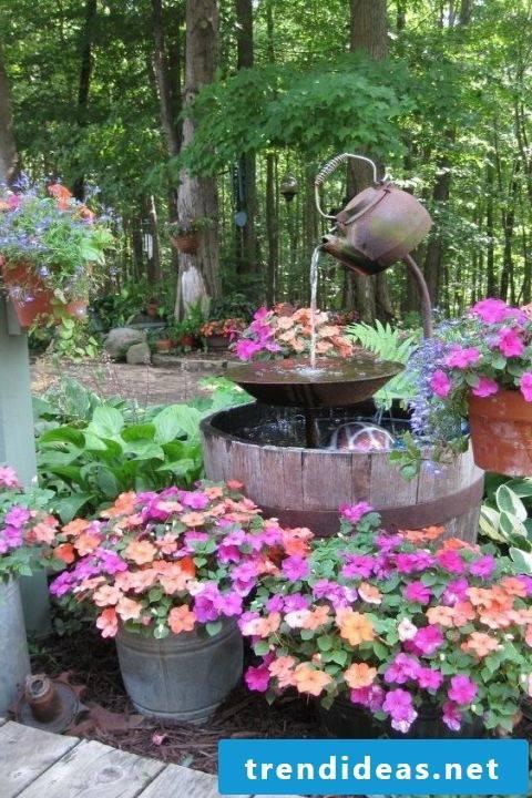 make garden ideas spring fountain instructions make garden decor yourself