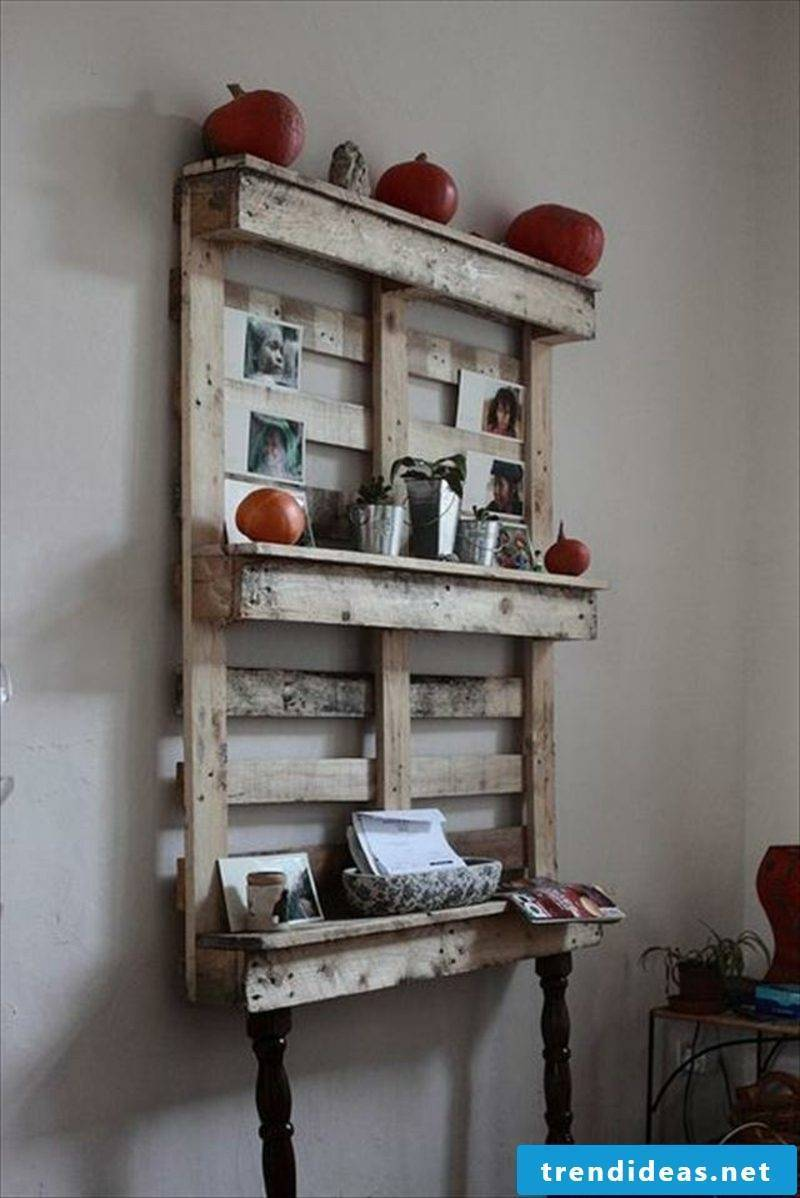 build wall shelf from pallets yourself